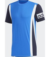 camiseta adidas aeroready colorblock azul masculina