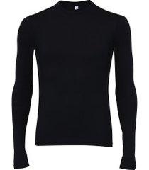 camisa segunda pele de ciclismo manga longa refactor - masculina - preto