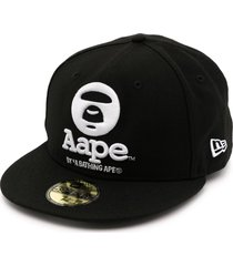 aape by *a bathing ape® logo embroidered baseball cap - black
