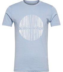 alder knowledge circle tee - gots/v t-shirts short-sleeved blå knowledge cotton apparel