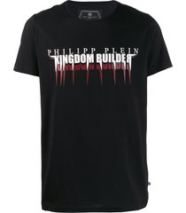 philipp plein platinum cut statement t-shirt - black