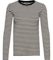 5x5 stripe mix tuba t-shirts & tops long-sleeved zwart mads nørgaard