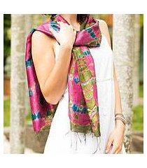 silk scarf, 'orchid illusion' (thailand)