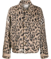 laneus animal print jacket - neutrals