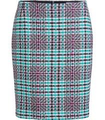 korte ruiten rok kleur