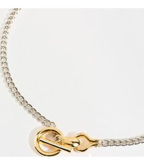 adrienne equestrian toggle necklace - mixed plating