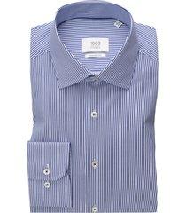 eterna shirt 1863 comfort fit blauw wit gestreept