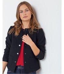 chaqueta estructurada con textura