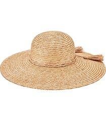women's san diego hat straw hat with braid trim - beige