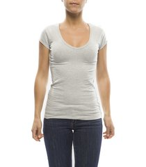 claesens ladies t-shirt v- neck s/s grey