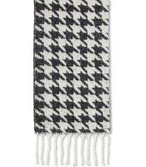 dkny oversized houndstooth scarf