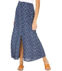 be bop juniors' floral-print button-front maxi skirt