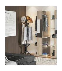 estante roupeiro industrial be mobiliário tog com espelho e cabideiro