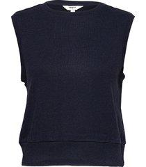 objedil waistcoat vests knitted vests blå object