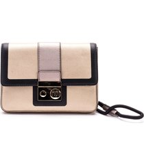 trussardi with love faux leather clutch