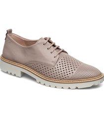incise tailored snörade skor låga beige ecco