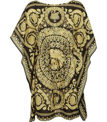 versace all-over printed robe