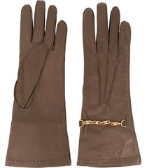 céline pre-owned classic gloves - brown