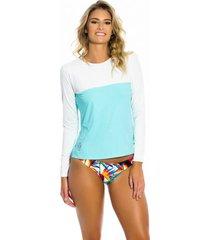 camisa kalini beachwear uv feminina