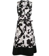 natori tie-waist sleeveless a-line dress - black