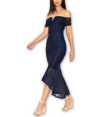 ax paris women's lace bardot fishtail dress
