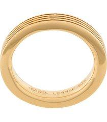 isabel lennse 4x2 ribbed band ring - gold