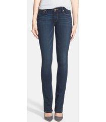 women's paige 'transcend - manhattan' bootcut jeans, size 28 - blue