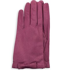 portolano women's perforated leather gloves - new rose - size 7