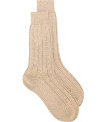 fashion clinic timeless ribbed socks - neutrals