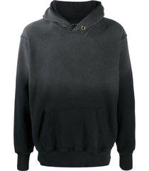 les tien gradient heavyweight jersey hoodie - black