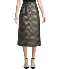 gainor embellished metallic skirt