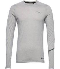 subz ls wool tee m t-shirts long-sleeved grå craft