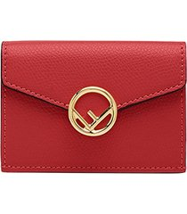 fendi f micro trifold wallet - red