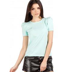 bluzka gładka o trapezowym kształcie