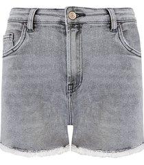 denim short grey