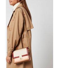 coach women's colorblock hutton shoulder bag - ivory blush multi