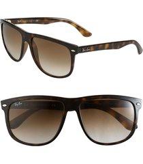 ray-ban 'boyfriend flat top frame' 56mm sunglasses in tort grad at nordstrom