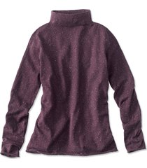 cotton/cashmere donegal mockneck sweater