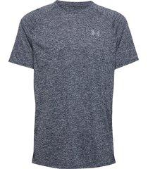 ua tech 2.0 ss tee t-shirts short-sleeved blå under armour