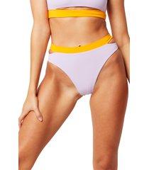 women's l space zac colorblock high waist bikini bottoms
