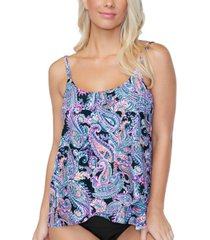 island escape capetown underwire tankini top, created for macys women's swimsuit