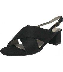 sandalia alberta negro takones