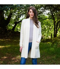 the glenevin waterfall cardigan cream xs