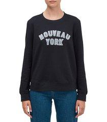 kate spade new york women's nouveau york sweatshirt - black - size xs