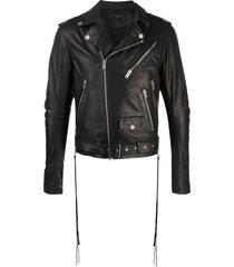amiri belted biker jacket - black
