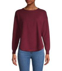 kenneth greene women's split-hem sweater - wine - size s