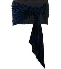 le petite robe di chiara boni eva velvet scarf - blue