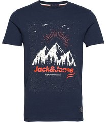 jorriver creek tee ss crew neck t-shirts short-sleeved blå jack & j s