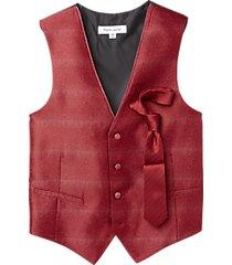 pronto uomo red classic fit vest set