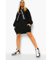 official collection oversized hoodie jurk, zwart